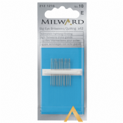 Milward Big Eye Hand Quilting Needles Size 10